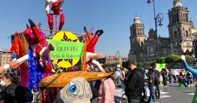 Protestan artesanos de Tultepec por construcción del Aeropuerto Felipe Ángeles